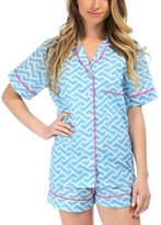 Malabar Bay Blue Molly Organic Cotton Summer Pajama Set