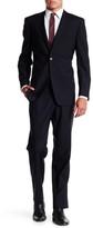 Ike Behar Charcoal Pinstripe Two Button Notch Lapel Wool Suit