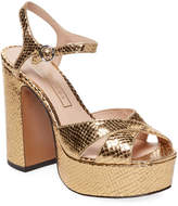 Marc Jacobs Women's Metallic Platform Sandal