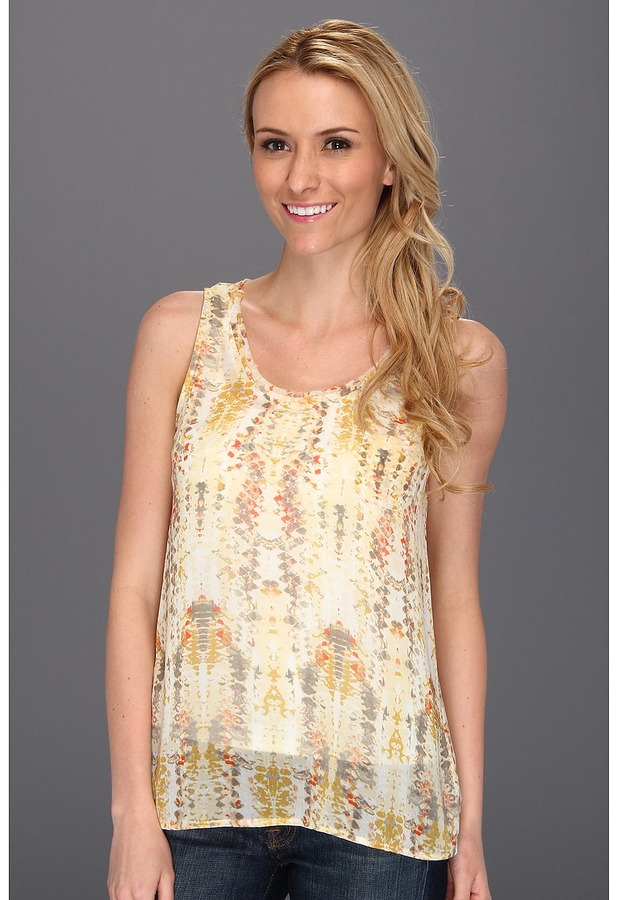 Vince Camuto TWO by Mosaic Tile Tank (Antique White) - Apparel