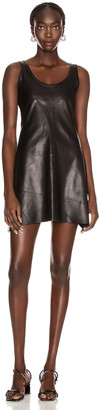 Helmut Lang Leather Tank Dress in Onyx | FWRD