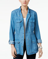 Style&Co. Style & Co Chambray Utility Jacket, Only at Macy's