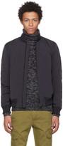 Belstaff Black Matte Nylon Coppen Bomber Jacket