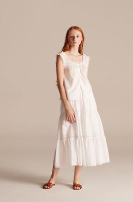 Rebecca Taylor La Vie Voile Lace Trim Skirt