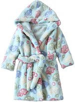 Aivtalk Kid's Hooded Bath Robe Thicken Sleepwear Pajamas, 2 - 7 Years