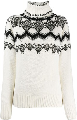 Ermanno Scervino Knitted Jumper With Lace Applique