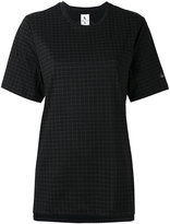 Nike checked T-shirt - women - Cotton/Polyester - S