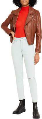 Rag & Bone Cropped Distressed High-rise Skinny Jeans