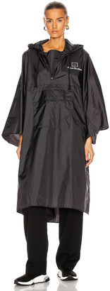 Acne Studios Outpost Face Poncho in Black | FWRD