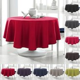 Today 256302 Tablecloth Round Polyester 180 x 180 cm, polyester, Pomme d'amour/Rouge, 180x180 cm