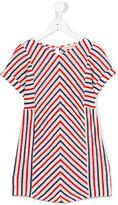 Anne Kurris - short sleeve striped dress - kids - Linen/Flax - 8 yrs