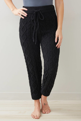 Wild Honey Cable Knit Lounge Pant Black S