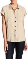 Three Dots Joana Short Sleeve Linen Shirt