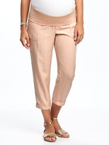 Old Navy Maternity Soft Roll-Panel Utility Crops