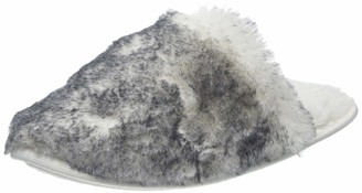 Boux Avenue Women's Luxe Tipped Fur Mule Open Back Slippers