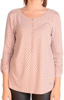 Tom Tailor Printed 3/4 Rolled Sleeve Knit Top