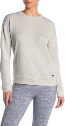 Andrew Marc Crew Neck Novelty French Terry Pullover
