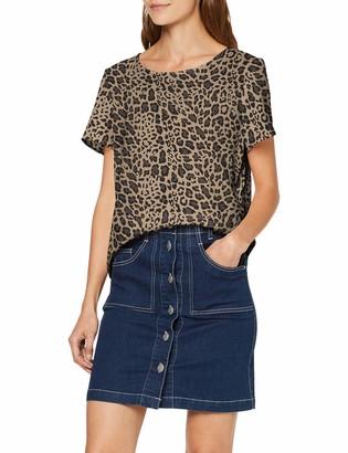 Vero Moda Women's Vmsasha Ss Zip Top Color Vest