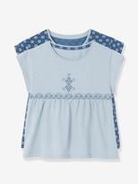 Vertbaudet Girls Pack of 3 Short-Sleeved T-shirts