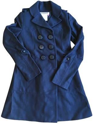 Charles Anastase Blue Wool Coat for Women