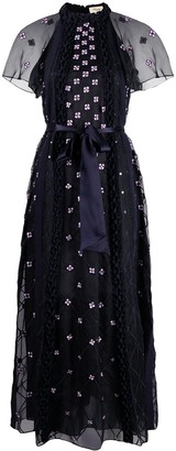 Temperley London Pixie floral embroidery dress