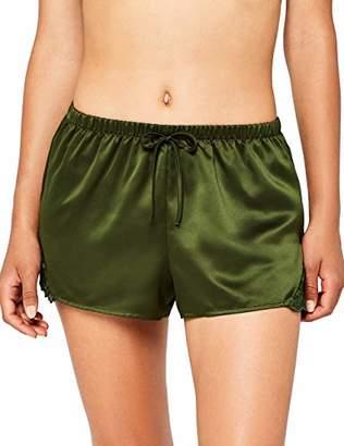Iris & Lilly Women's Lace Detail Pyjama Shorts