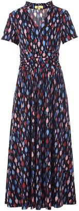 Wallis **Jolie Moi Blue Collar Jersey Maxi Dress