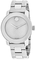 Movado Bold 3600334 Women's Silver Stainless Steel Watch with Crystal Accents