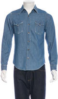 Saint Laurent Distressed Chambray Shirt