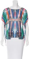 Clover Canyon Sheer Digital Print Top