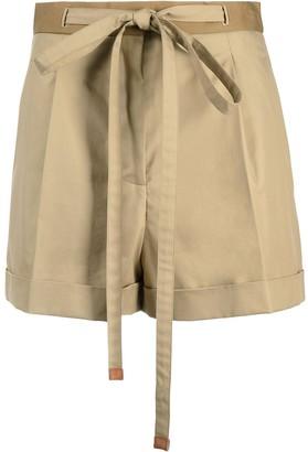 Loewe High-Waist Belted Shorts