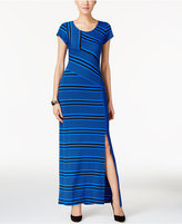 NY Collection Petite Striped Maxi Dress