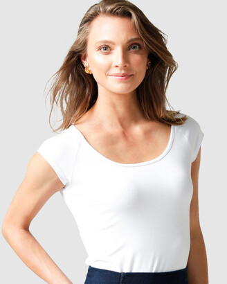SACHA DRAKE - Women's White Tops - Cap Sleeved Top - Size One Size, 14 at The Iconic