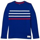 Gap Brilliant Blue Contrast Stripes Tee