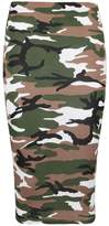 RM Fashions RM New Women's Printed Pencil Skirt, Midi Skirt Normal and Plus Size (Medium, Camouflage)