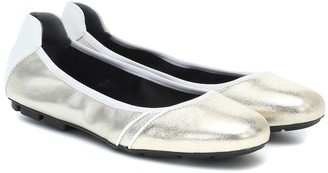 Hogan H511 leather ballet flats
