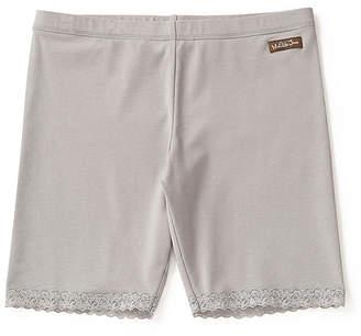 Matilda Jane Clothing Women's Casual Shorts - Gray Lace-Trim Branching Out Shorts - Women