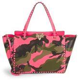 Valentino Garavani Studded Camouflage Tote Bag