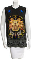 Givenchy Sleeveless Catholic Print T-Shirt