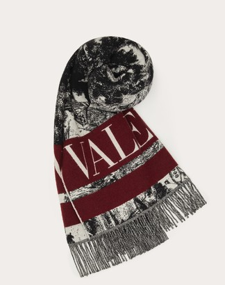 Valentino Garavani Uomo Wool And Cashmere Dreamatic Jacquard Scarf Man Multicolored Virgin Wool 92%, Cashmere 8% OneSize