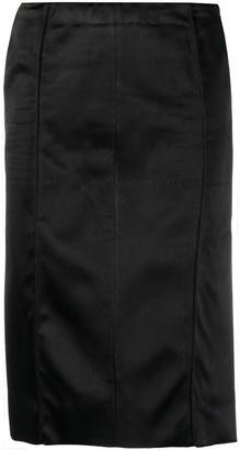 Kwaidan Editions Cut-Out Satin Pencil Skirt