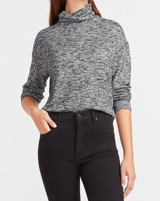 Express Heathered Mock Neck Sweatshirt