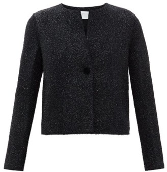 Harris Wharf London Velvet-button Tinsel Jacket - Womens - Dark Navy