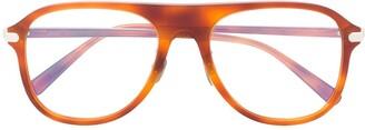 Brioni Oversized Tortoiseshell Glasses