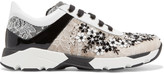 Rene Caovilla Sequin-embellished lace sneakers