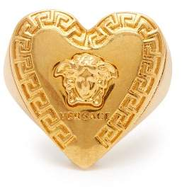 Versace Medusa Head Heart Ring - Womens - Gold