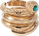 Roberto Cavalli Set of 3 Snake rings