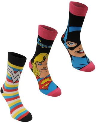Dc Comics 3 Pack Crew Sock Ladies