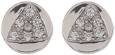 Melinda Maria Remy CZ Triangle Round Stud Earrings