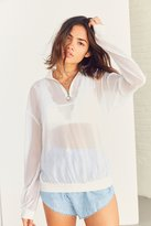Silence & Noise Silence + Noise Chiffon Popover Zip-Up Top